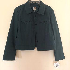 Anne Klein Seersucker Women's Jacket